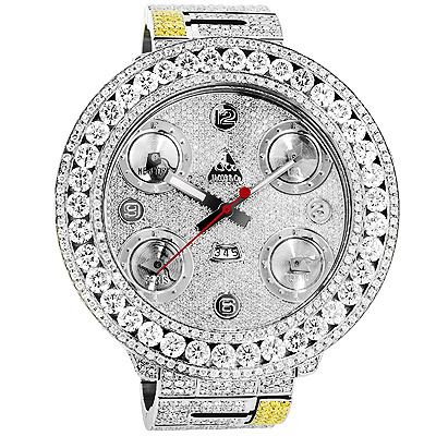 diamond joe mens broadway watches rodeo steel ct watch carats